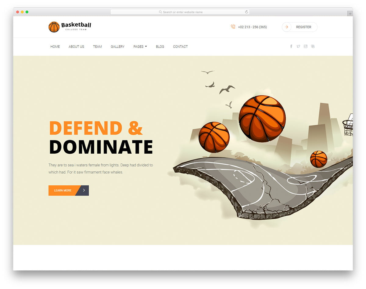 basketball-free-template - 110+ Free Bootstrap HTML Responsive Templates 2019