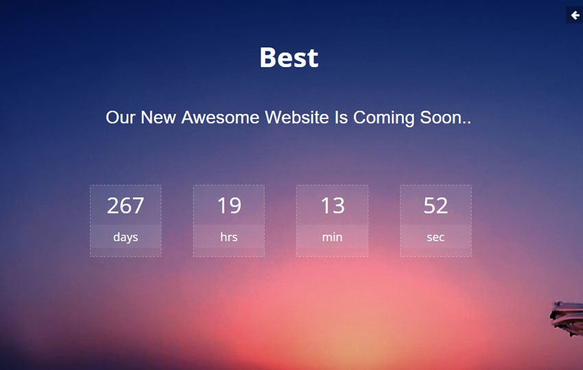 best-coming-soon-website-template-1 - 58+ Free Under Construction HTML Responsive Templates [year]
