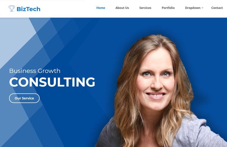 biztech-free-bootstrap-template - 57+ Best Free Digital Agency HTML Website Templates [year]