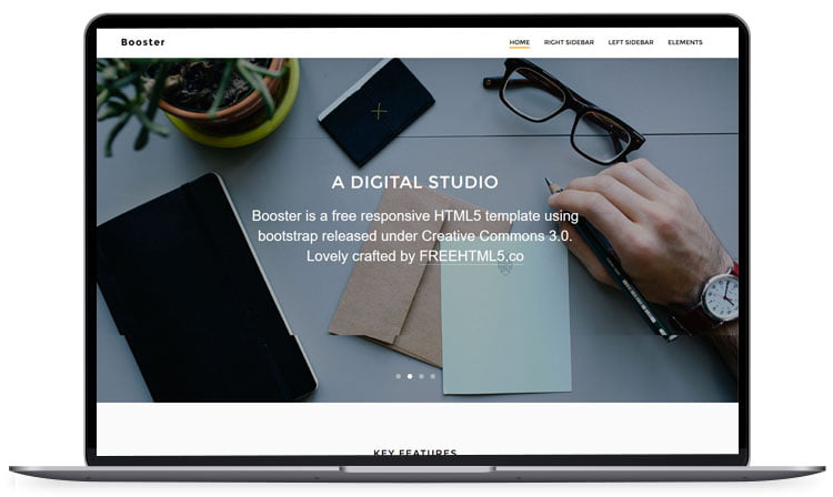 booster - 62+ Best Free HTML5 Website Templates [year]