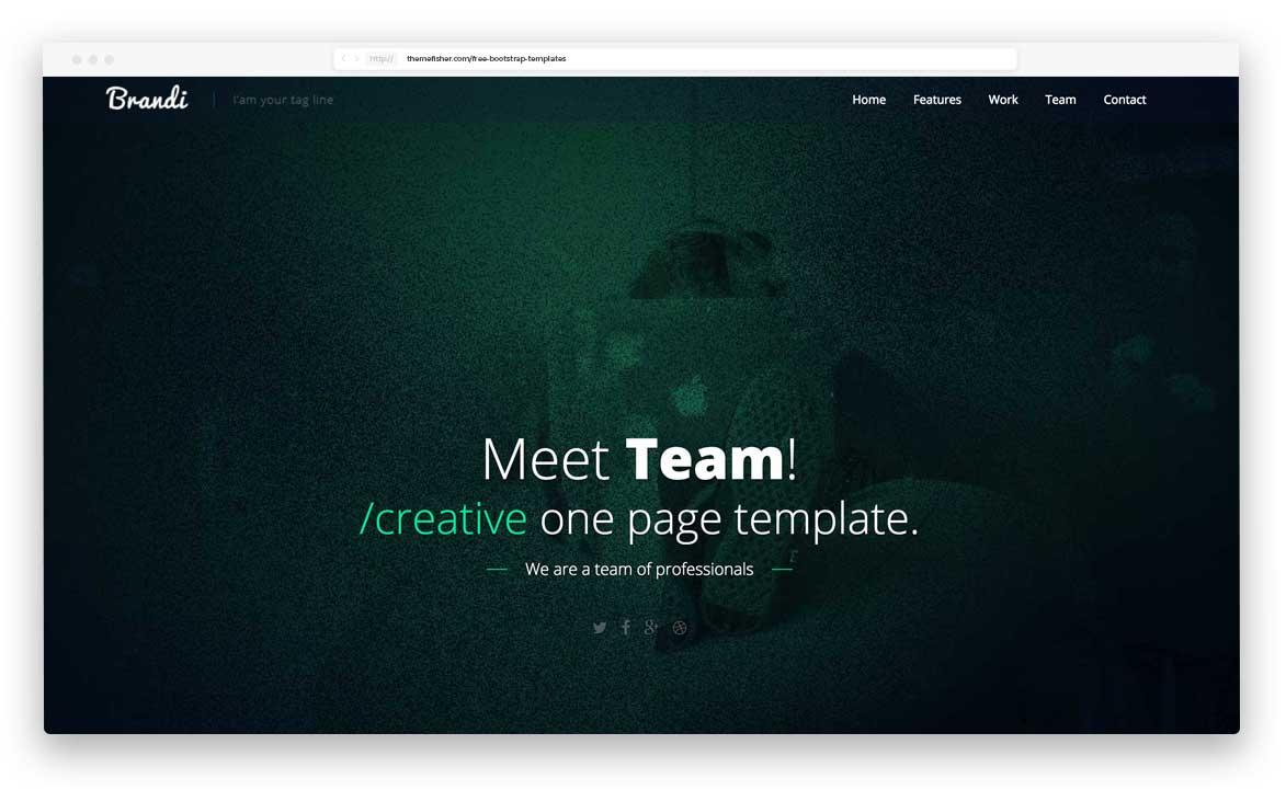 brandi-business-template - 62+ Best Free HTML5 Website Templates 2019