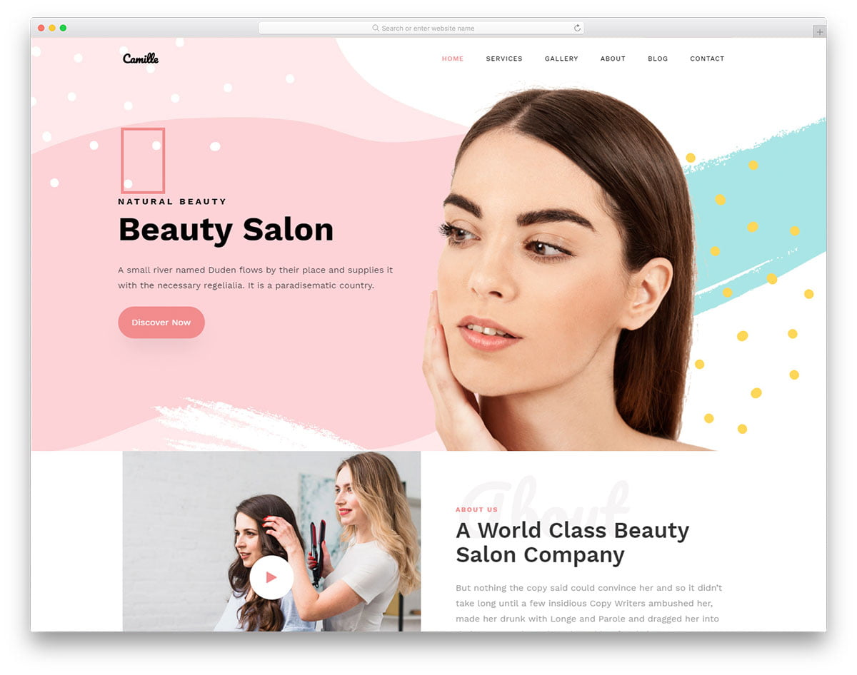 camille-free-template - 110+ Free Bootstrap HTML Responsive Templates 2019