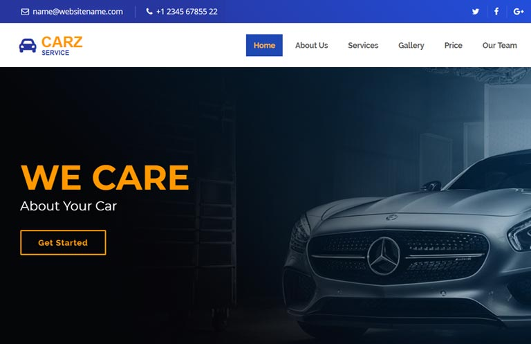 car-service-bootstrap-4-website-template - 75+ Free Responsive Automobile HTML Template 2019