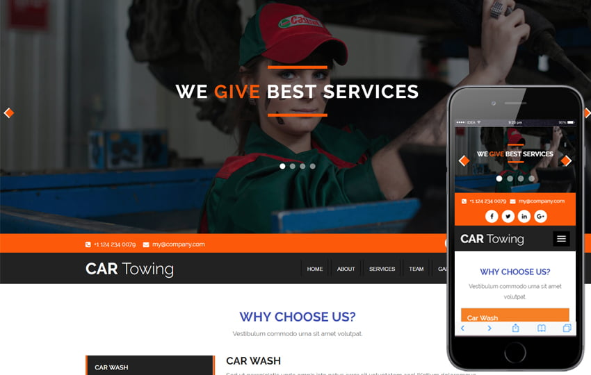 car_towing - 75+ Free Responsive Automobile HTML Template 2019