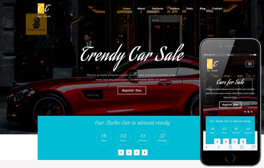 car_trade_Free04-05-2017_1773781235 - 75+ Free Responsive Automobile HTML Template 2019