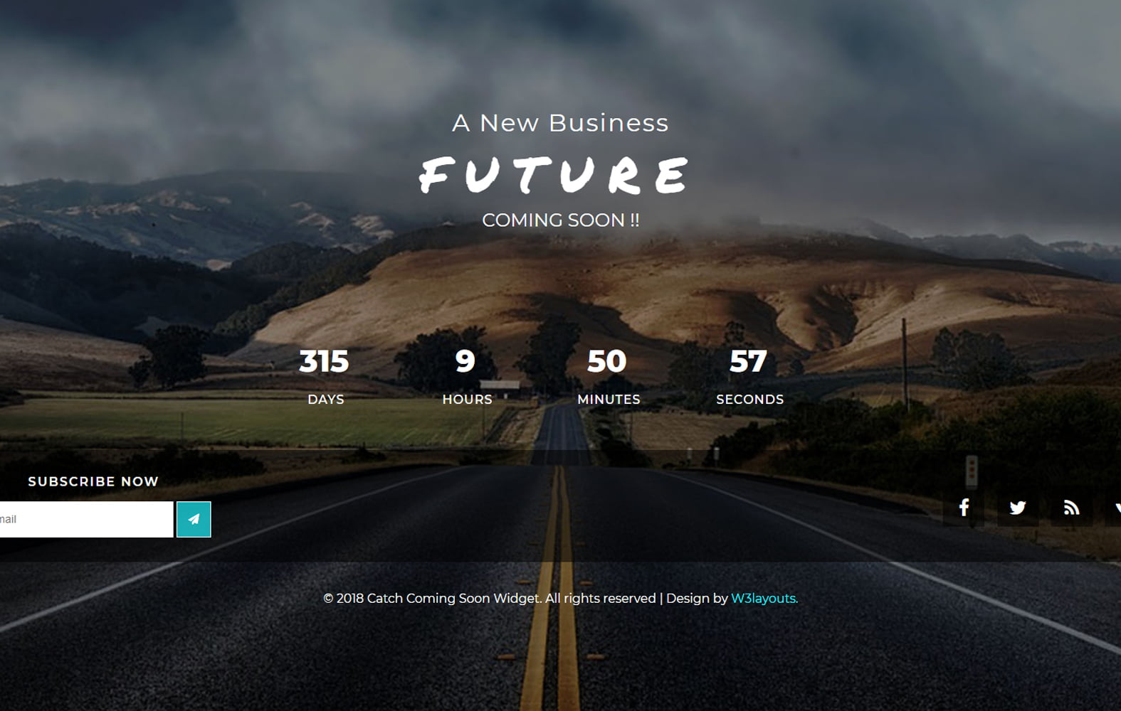 catch_comingsoon - 75+ Free Coming Soon HTML Responsive Templates 2019