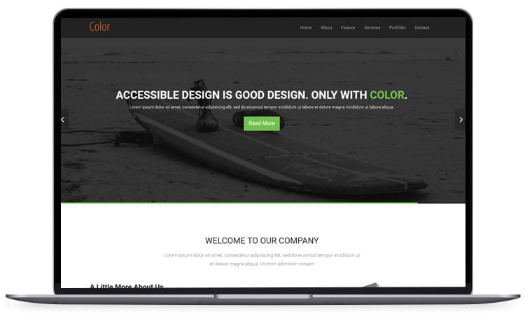 color - 62+ Best Free HTML5 Website Templates [year]