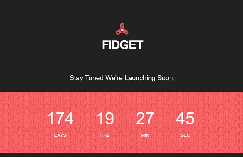 coming-soon-responsive-free-template-fidget-1-1 - 58+ Free Under Construction HTML Responsive Templates [year]