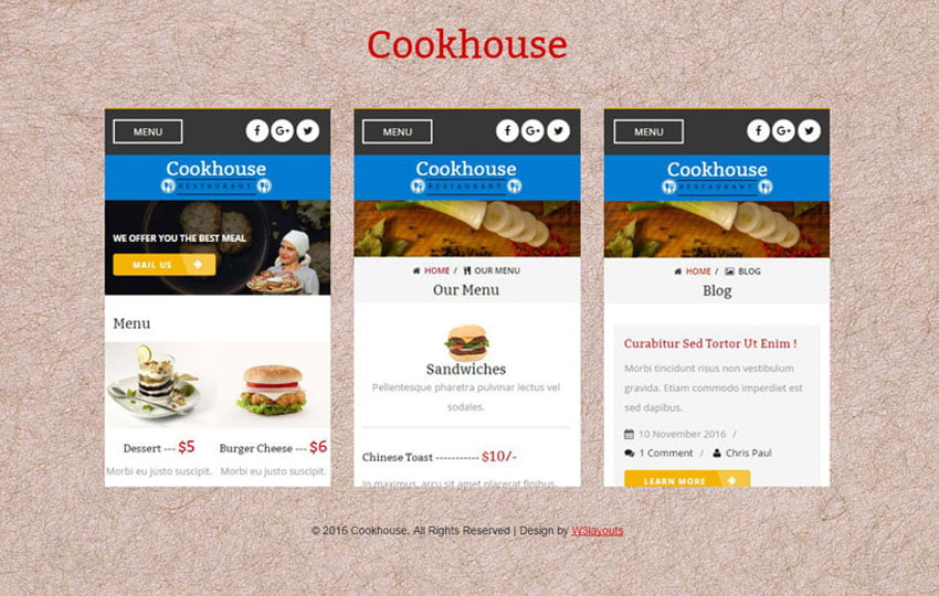 cook_house - 56+ Best Free App Landing Page HTML Website Templates [year]