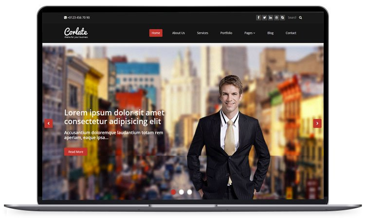 corlate - 62+ Best Free HTML5 Website Templates [year]