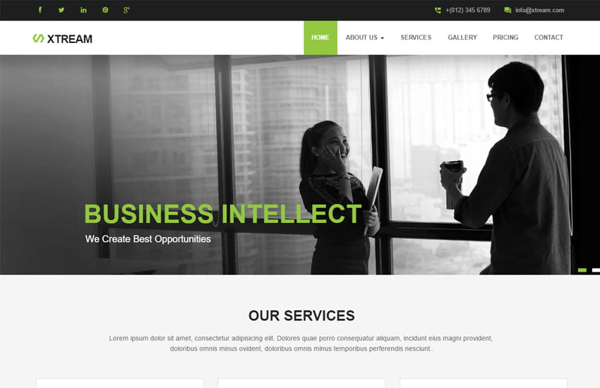 corporate-responsive-website-template-1 - 57+ Best Free Digital Agency HTML Website Templates [year]