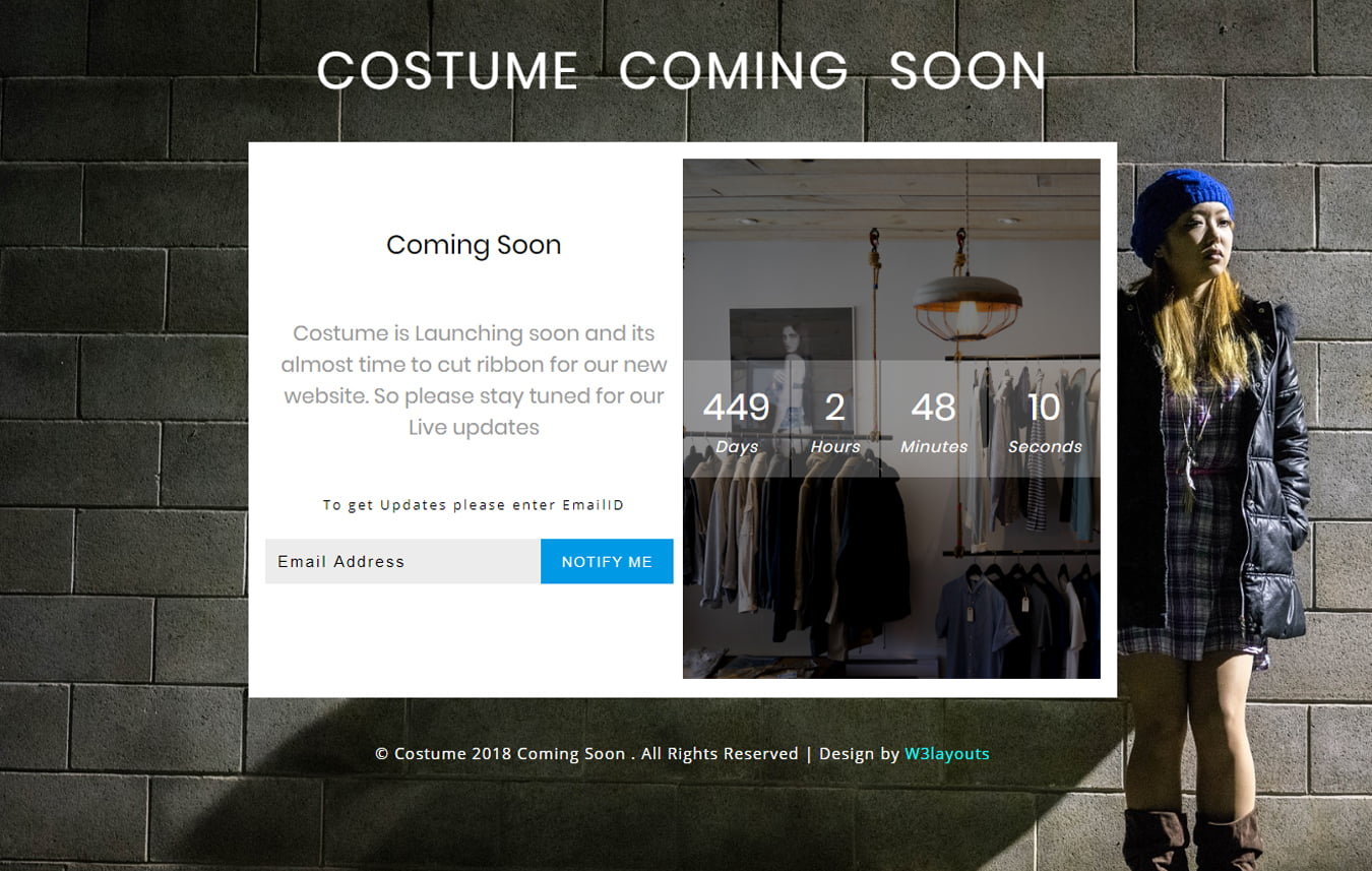 costume-coming-soon_Free07-08-2018_40983421 - 75+ Free Coming Soon HTML Responsive Templates 2019