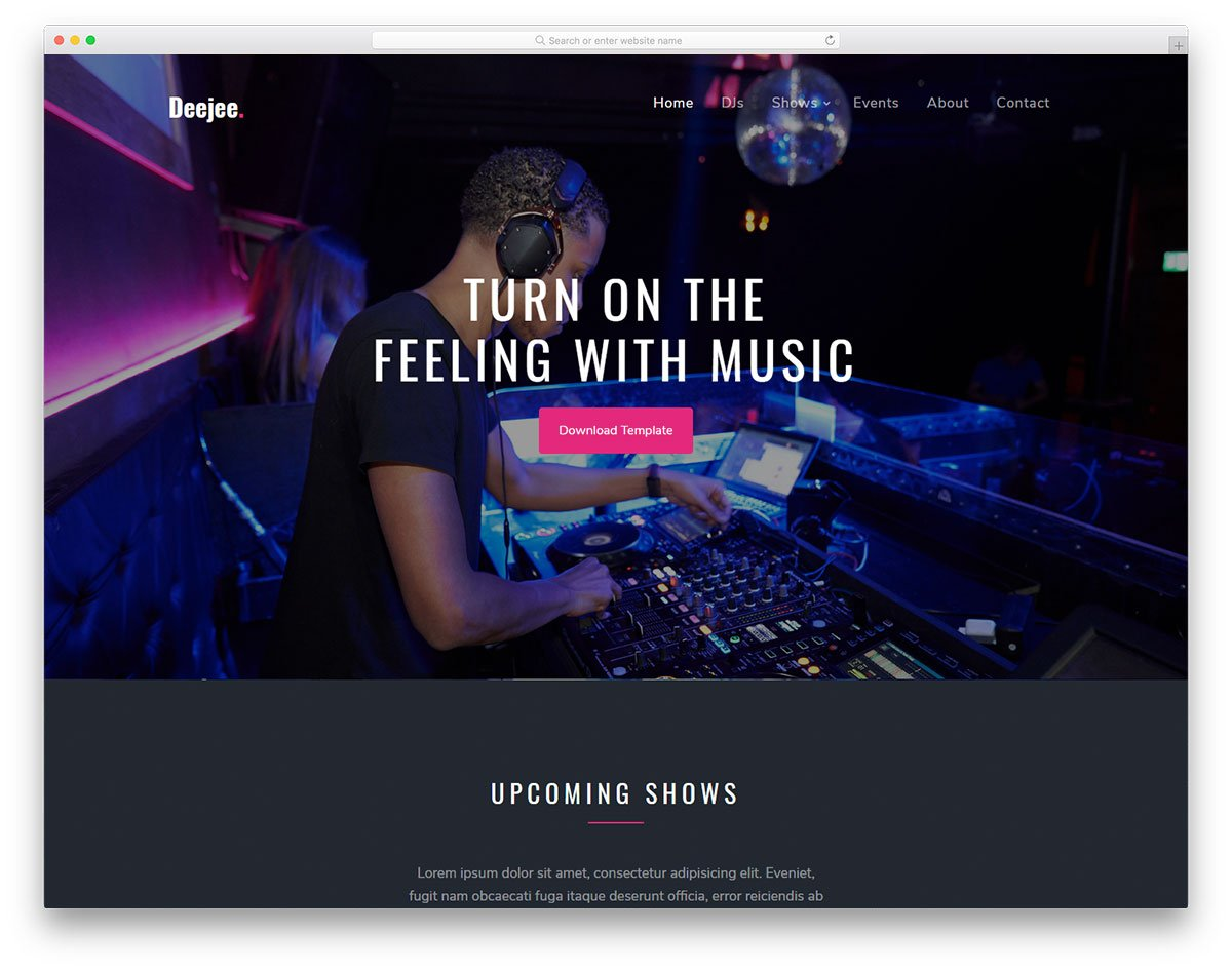 deejee-free-template - 110+ Free Bootstrap HTML Responsive Templates 2019