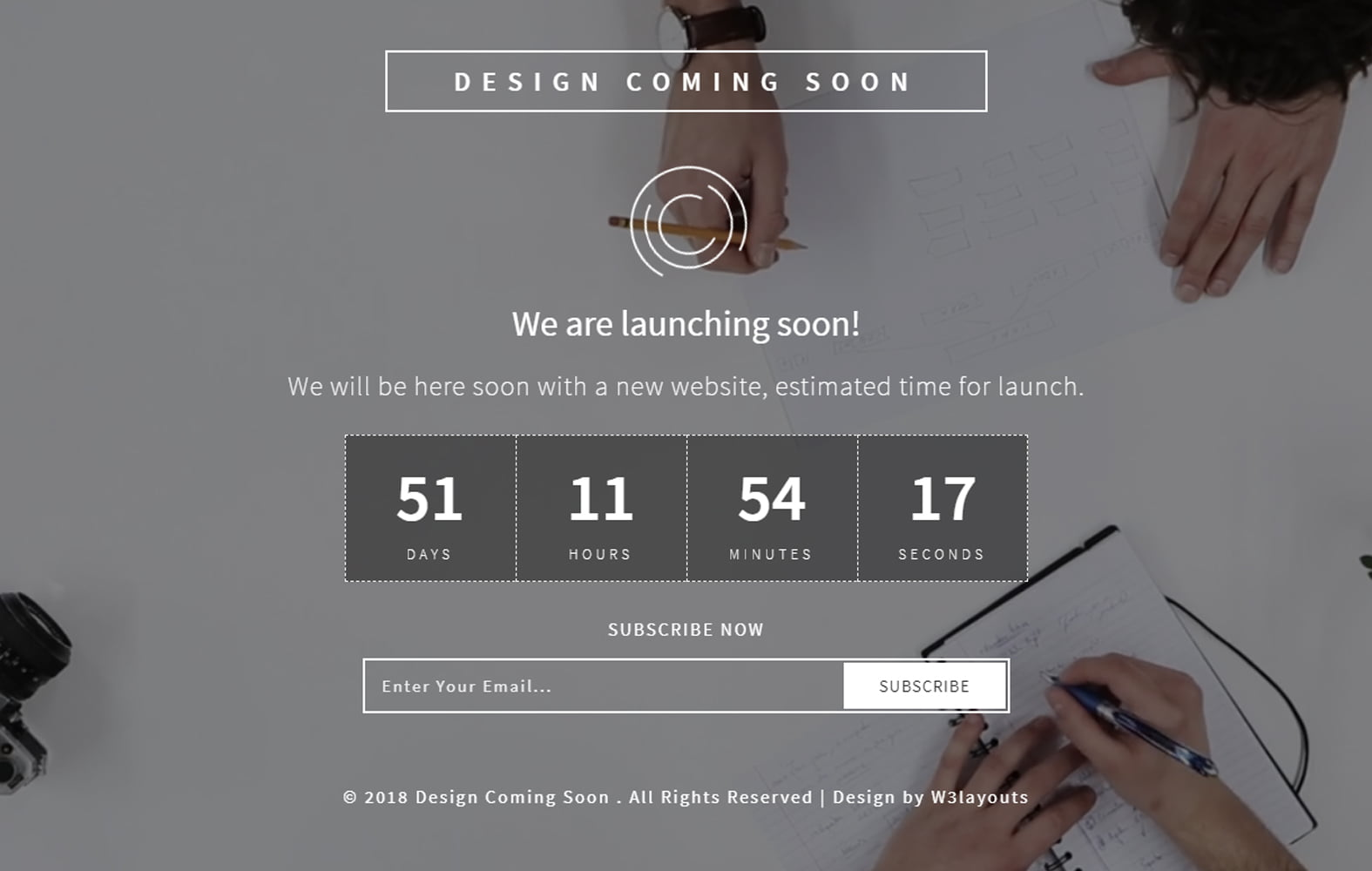 design_coming_soon - 75+ Free Coming Soon HTML Responsive Templates 2019