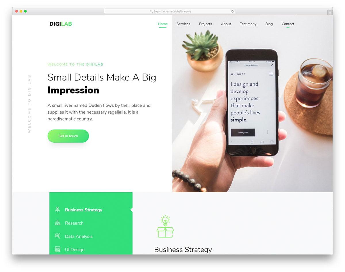 digilab-free-template - 57+ Best Free Digital Agency HTML Website Templates [year]