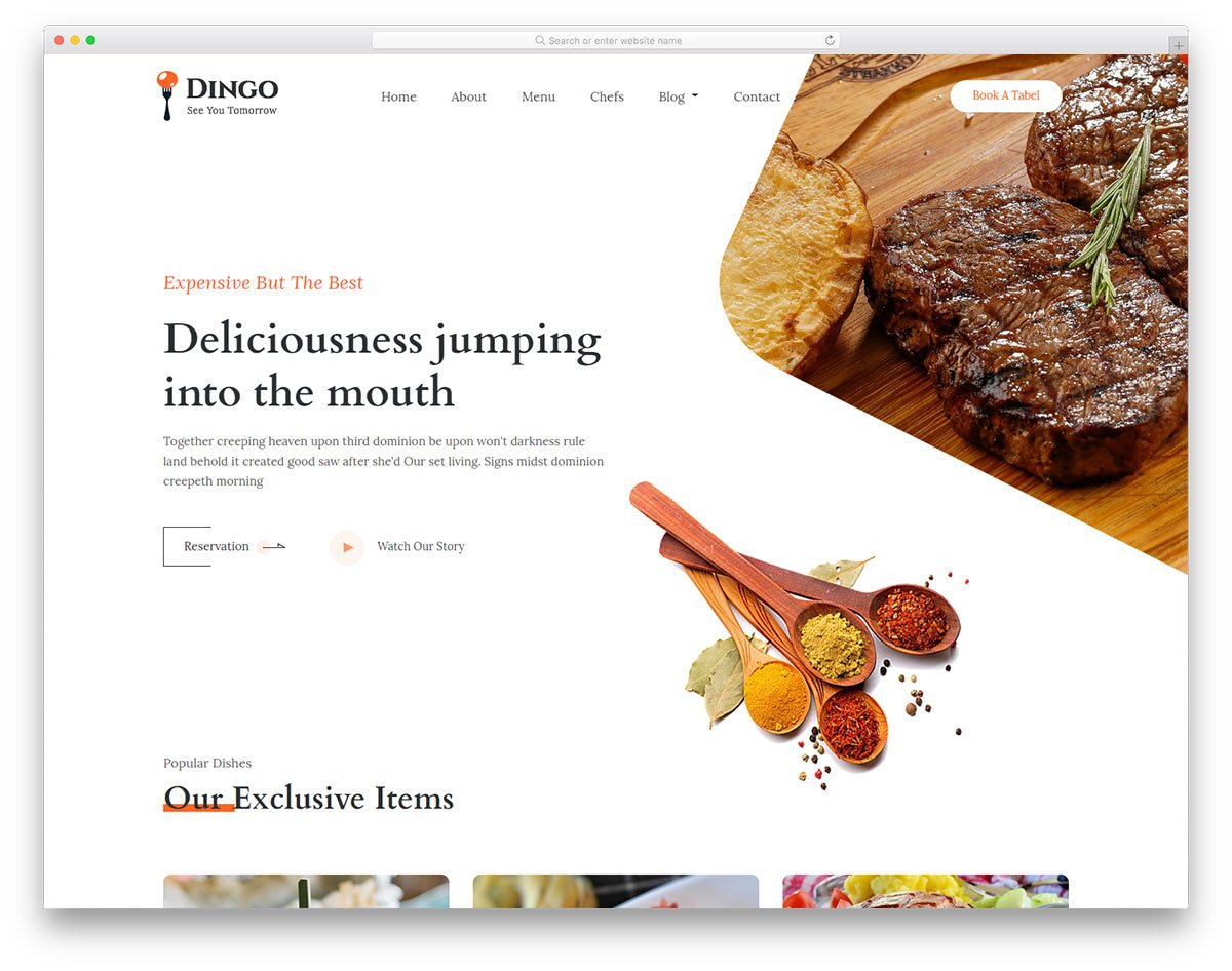 dingo-free-template - 110+ Free Bootstrap HTML Responsive Templates 2019