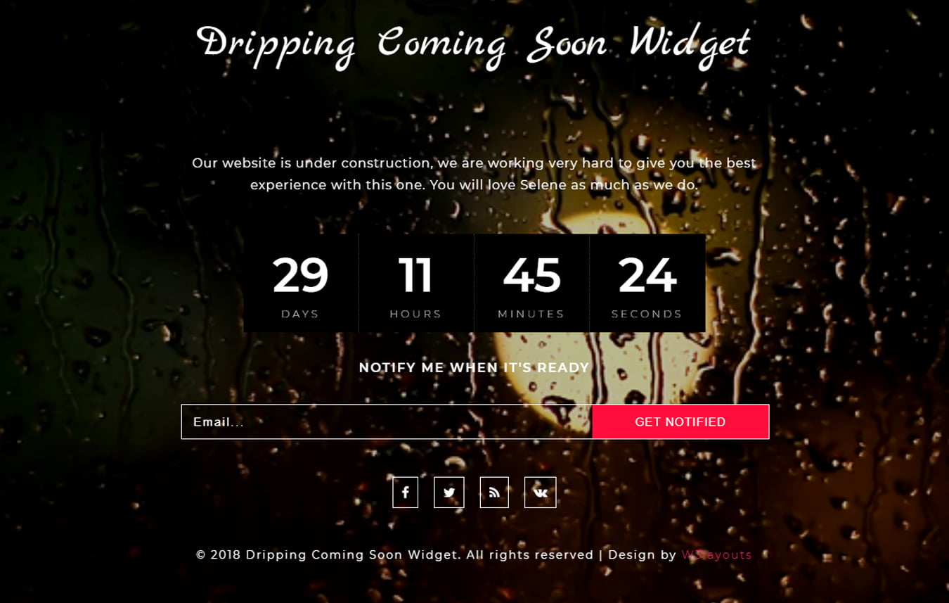 dripping_coming_soon_Free28-07-2018_2129459400 - 75+ Free Coming Soon HTML Responsive Templates 2019