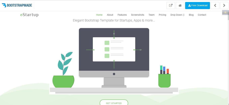 eStartup - 110+ Free Bootstrap HTML Responsive Templates 2019