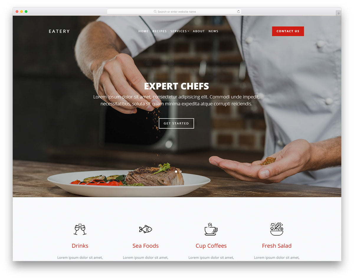 eatery-free-template - 110+ Free Bootstrap HTML Responsive Templates 2019