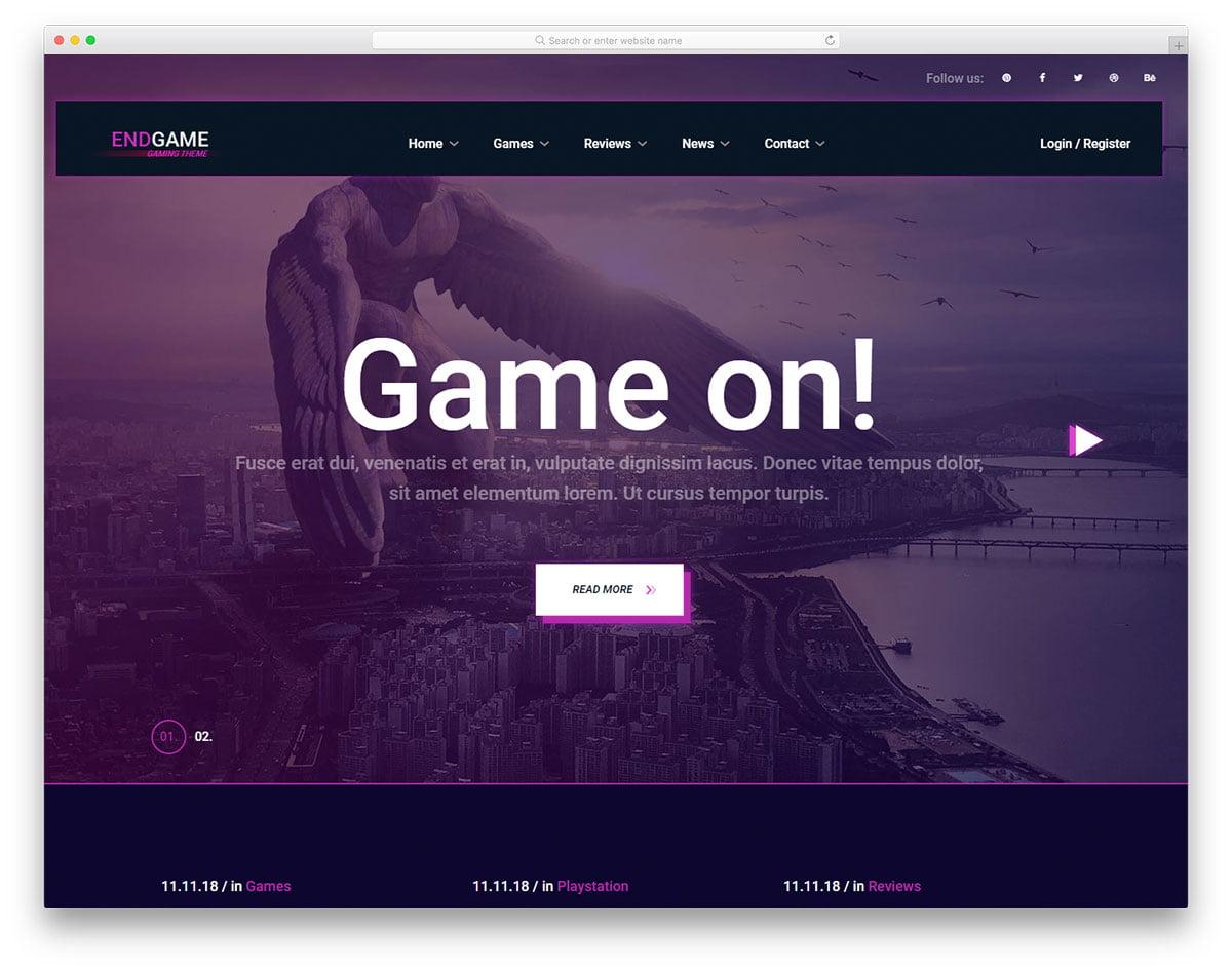 endgam-free-template - 110+ Free Bootstrap HTML Responsive Templates 2019