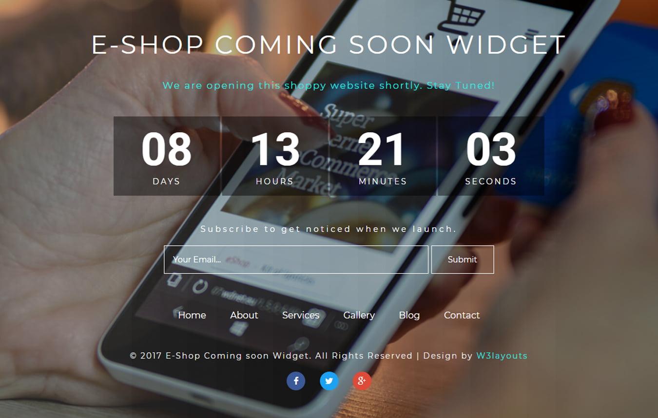 eshop_coming_soon - 75+ Free Coming Soon HTML Responsive Templates 2019