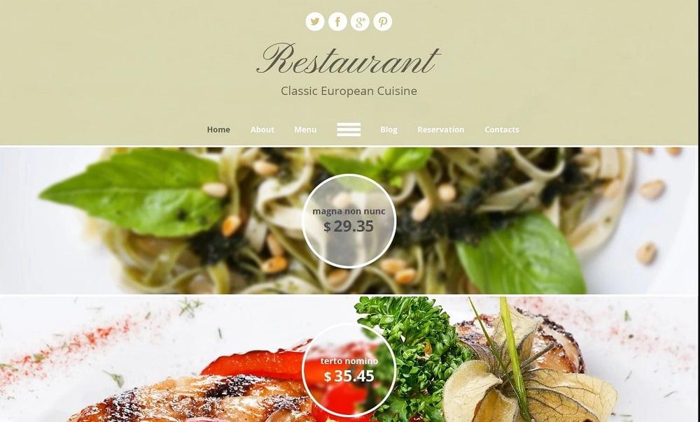 european-restaurant-website-template - Top 111+ Free Responsive HTML5 Website Templates