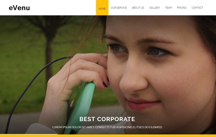 evenu-best-corporate-html5-free-website-template - 57+ Best Free Digital Agency HTML Website Templates [year]