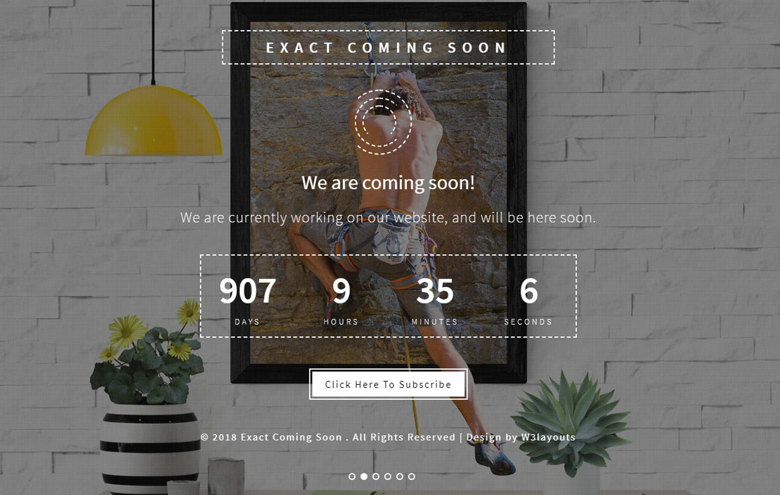 exact_coming_soon - 75+ Free Coming Soon HTML Responsive Templates 2019