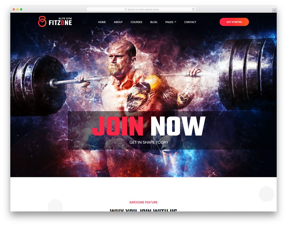 fitzone2-free-template - 110+ Free Bootstrap HTML Responsive Templates 2019