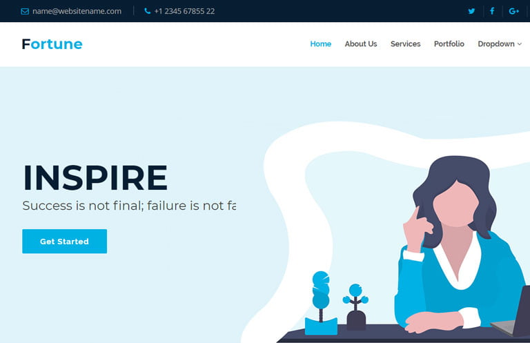 fortune-business-bootstrap-template - 57+ Best Free Digital Agency HTML Website Templates [year]