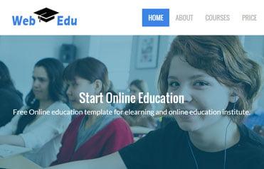 free-educational-responsive-web-template-webEdu - 57+ Best Free Education HTML Website Templates