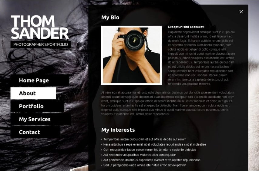 free-full-js-photographer-portfolio-website-template - Top 111+ Free Responsive HTML5 Website Templates [year]