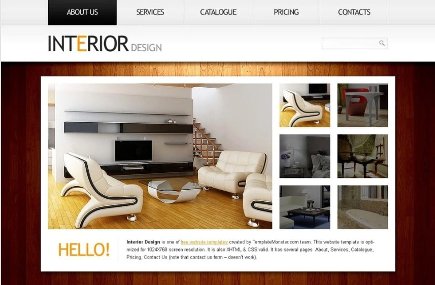 free-interior-design-website-template - Top 111+ Free Responsive HTML5 Website Templates [year]