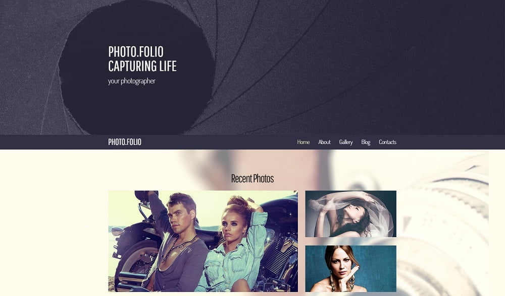 free-photographer-portfolio-website-template - Top 111+ Free Responsive HTML5 Website Templates [year]