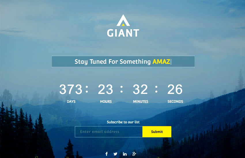 giant-free-coming-soon-html-website-template-1 - 58+ Free Under Construction HTML Responsive Templates [year]