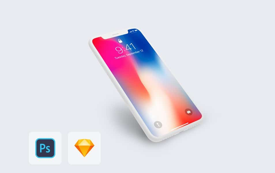 iPhone-X-Clay-Mockup - 100+ Best Free IPhone X Mockup Templates