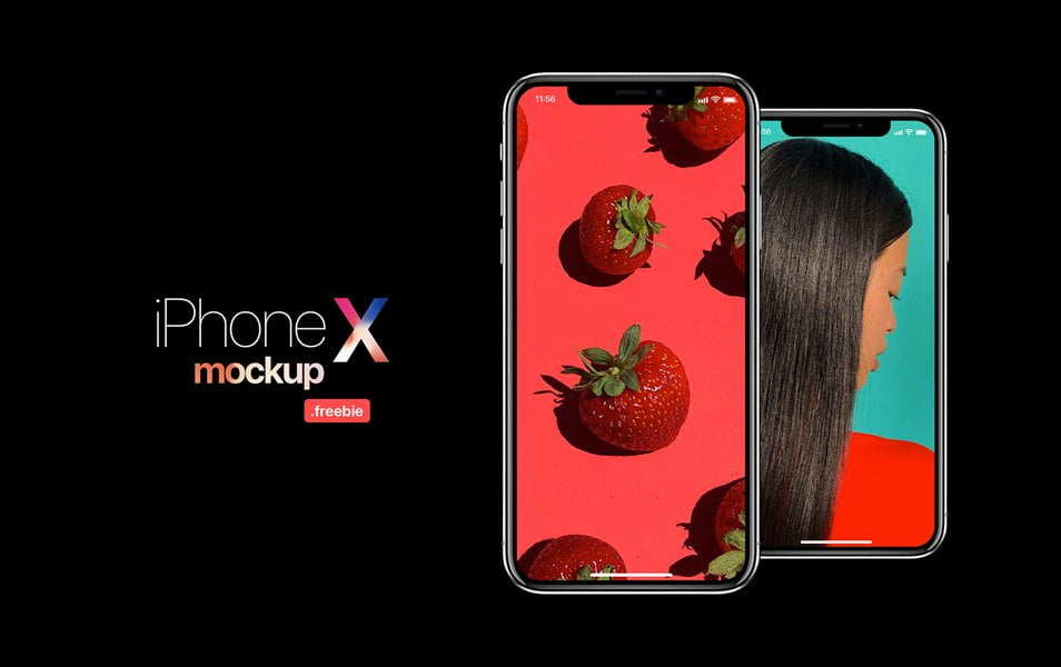 iPhone-X-Free-Mockup - 100+ Best Free IPhone X Mockup Templates
