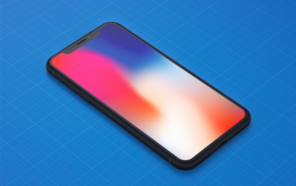 iPhone-X-Mockups-freebie - 100+ Best Free IPhone X Mockup Templates