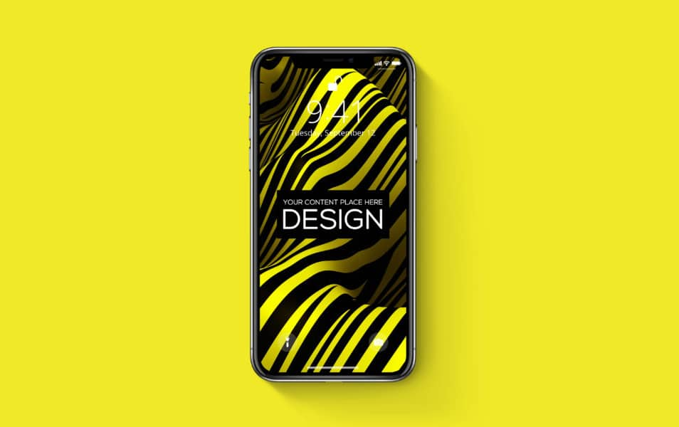iPhone-X-Realistic-PSD-Mockup-Freebie - 100+ Best Free IPhone X Mockup Templates