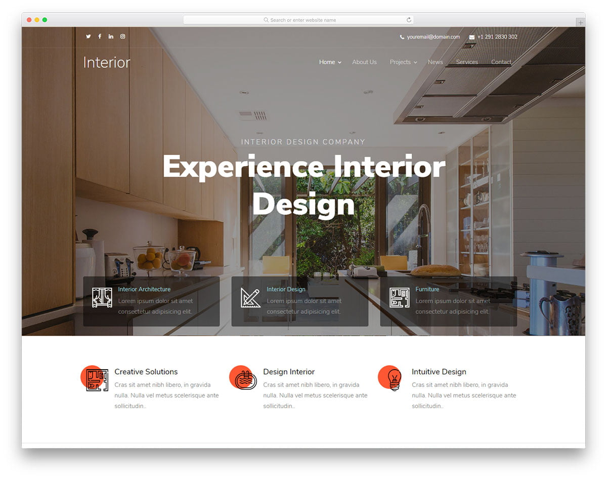 interiordesign-free-template - 56+ Best Free Architecture HTML Website Templates [year]