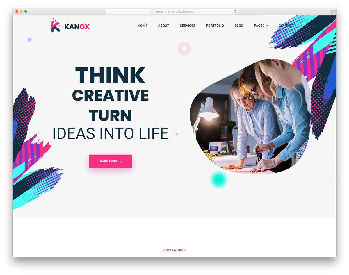 kanox-free-template - 110+ Free Bootstrap HTML Responsive Templates 2019