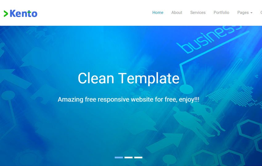 kento - 56+ Best Free App Landing Page HTML Website Templates [year]