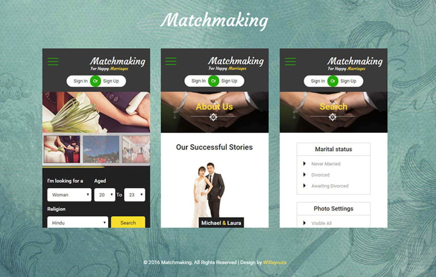 matchmaking - 56+ Best Free App Landing Page HTML Website Templates [year]