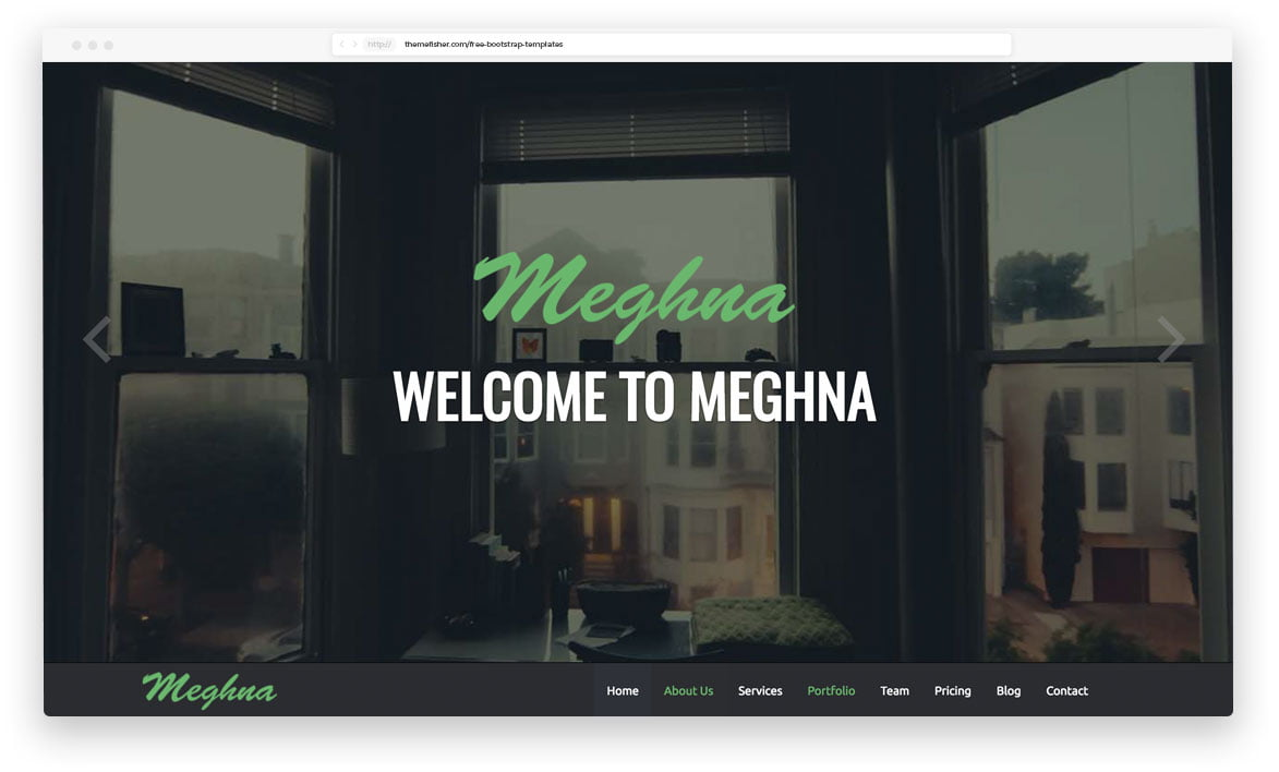 meghna-onepage-business-template-1 - 62+ Best Free HTML5 Website Templates [year]