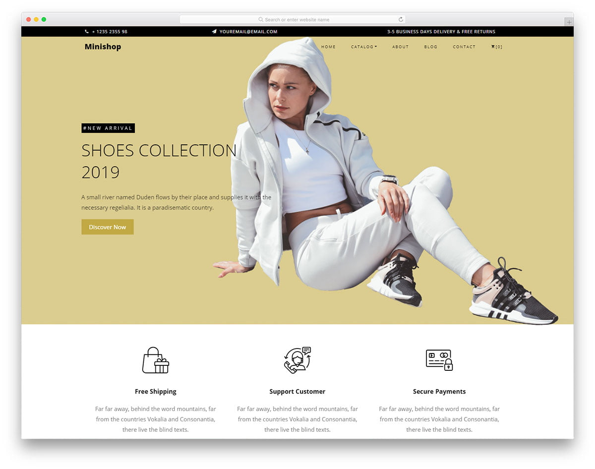 minishop-free-template - 110+ Free Bootstrap HTML Responsive Templates 2019