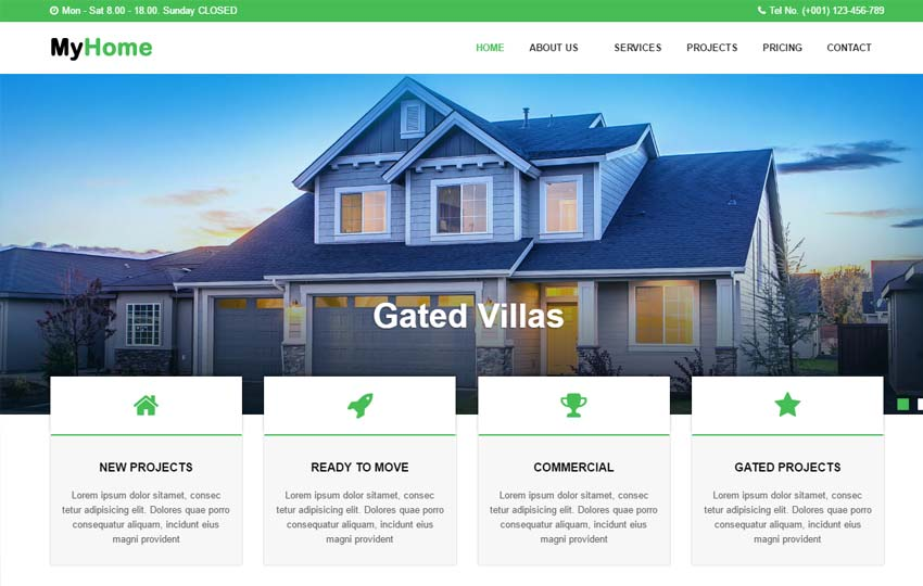 myhome-real-estate-website-template - 57+ Best Free Digital Agency HTML Website Templates [year]