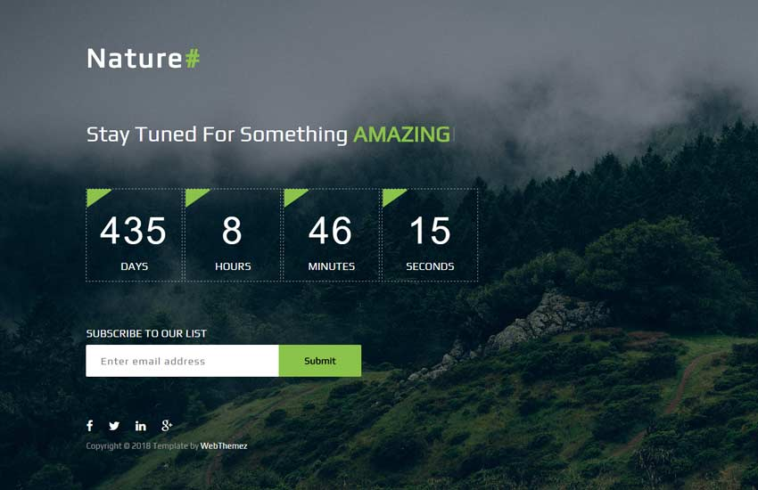 nature-best-coming-soon-free-web-template-1-1 - 58+ Free Under Construction HTML Responsive Templates [year]
