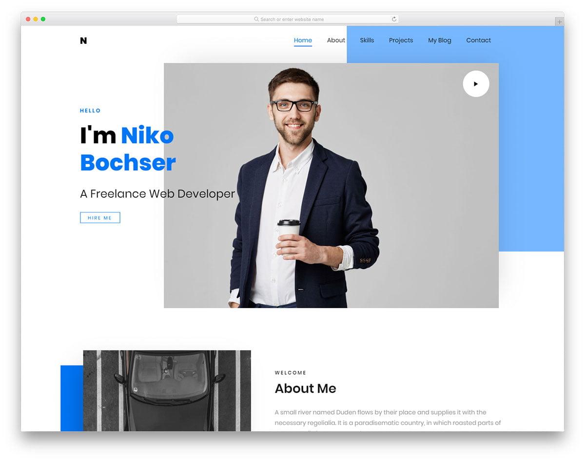 niko-free-template - 57+ Best Free Digital Agency HTML Website Templates [year]