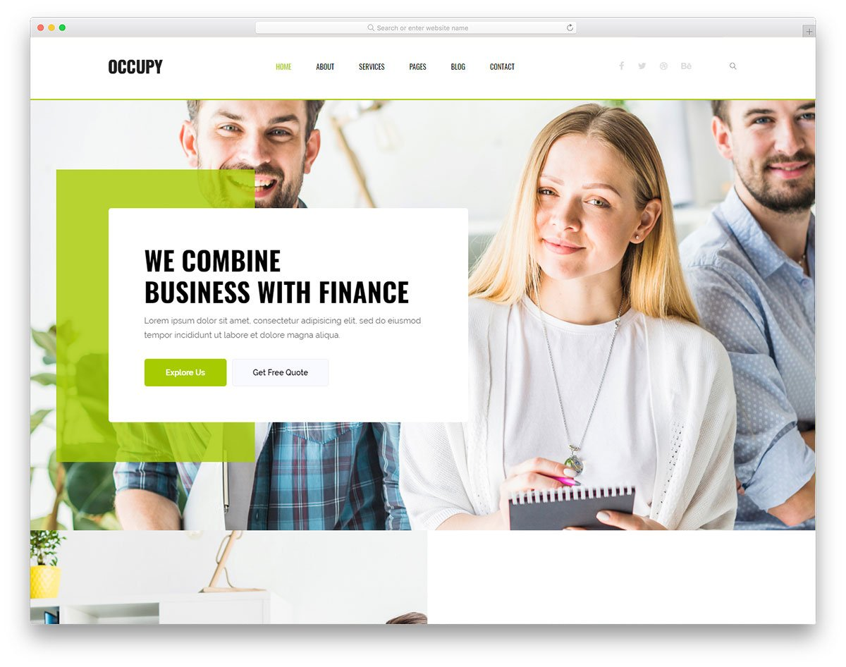 occupy-free-template - 57+ Best Free Digital Agency HTML Website Templates