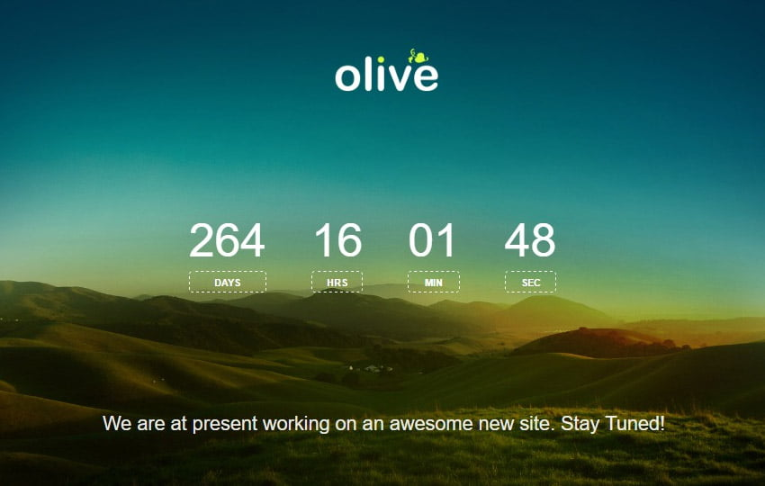 olive-material-design-coming-soon-web-templat-1 - 58+ Free Under Construction HTML Responsive Templates [year]